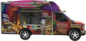 Food truck with graphics