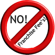 No franchise fees emblem